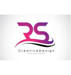Rs r s letter logo design creative icon modern vector
