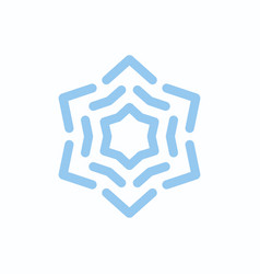 snowflake blue on white isolated vector image
