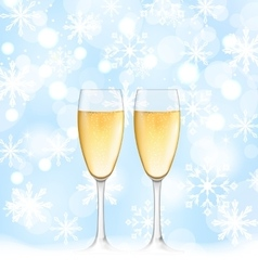 Snowflakes Elegance Background with Glasses of vector image
