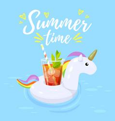 Summer time card vector