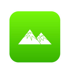 swiss alps icon digital green vector image