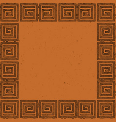 template with ancient grecian ornament vector image
