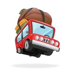 Travel Minivan Car Icon Vacation Isolated vector