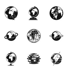 universal icons set simple style vector image