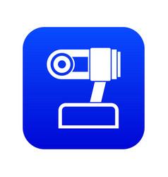 Webcam icon digital blue vector