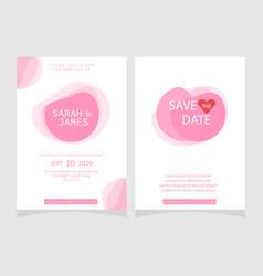 wedding invitation card template floral invite vector image