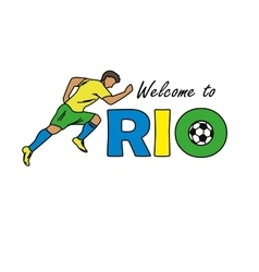 Welcome to Rio vector image