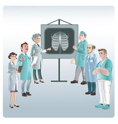 cartoon medicine lecture concept vector image vector image