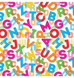 Colorful alphabet background vector image