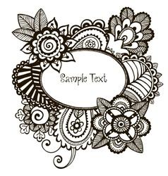 Doodle frame vector image vector image