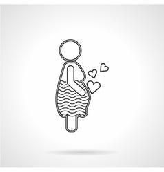 Flat line icon for motherhood vector image