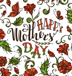 Lettering Happy Mothers Day vector image vector image