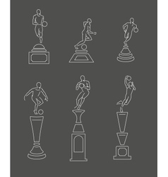 sport trophy vector image vector image