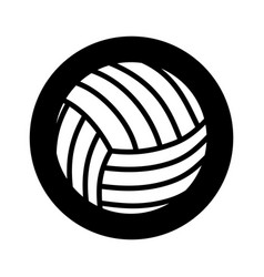 Volleyball sport isolated icon vector
