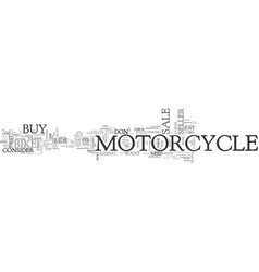 what to do when you see a sign motorcycle for vector image vector image