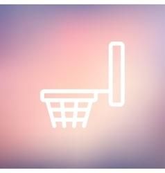 Basketball hoop thin line icon vector image