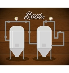 Brewery beer production factory vector