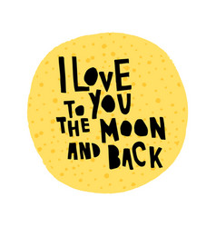 love moon vector image