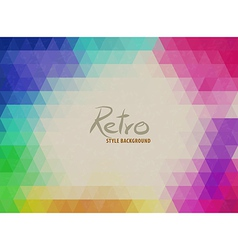 Triangle color background vector image vector image