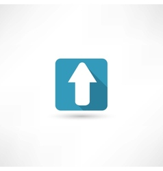 arrow up icon vector image vector image