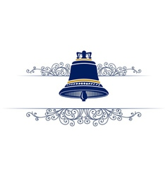 bell with retro pattern vector image vector image