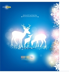 elegant christmas background with deers wit vector image