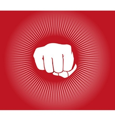 Fist power punch background vector image vector image