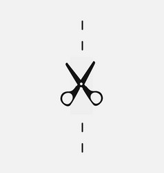 stationery scissors cut icon background vector image