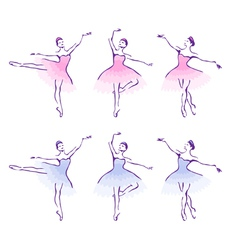 Ballet woman-dancers vector image