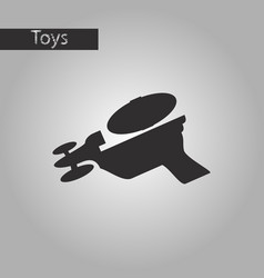 black and white style icon toy gun vector image
