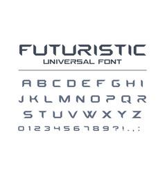 technology universal font geometric sport vector image vector image