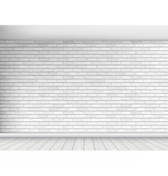 white brick wall background vector image vector image