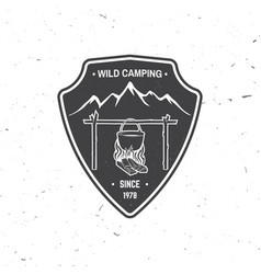 wild camping extreme adventure vector image