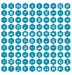 100 wireless technology icons sapphirine violet vector