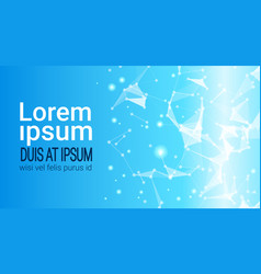 Abstract polygonal geometrical background banner vector