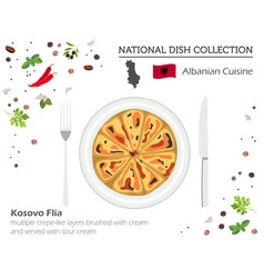 Albanian cuisine european national dish vector
