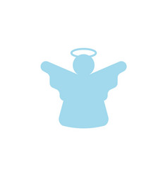 angel icon on white background vector image