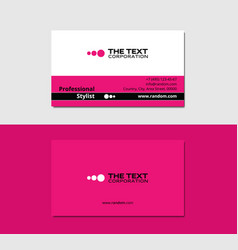 Beauty and fashion business card vector