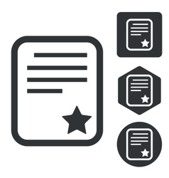 Best document icon set monochrome vector