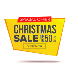 big christmas sale banner advertising vector image