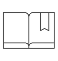 Bookmark with book thin line icon read vector