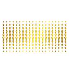 coffin golden halftone grid vector image