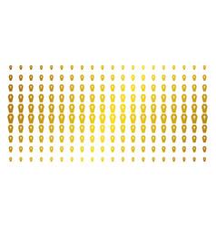 Coffin golden halftone grid vector
