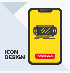 console device game gaming psp glyph icon in vector image