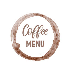 creative emblem template for coffee menu as brown vector image