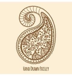 Elegant Hand Drawn Paisley vector