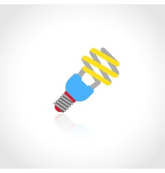 Energy saving lightbulb icon vector image