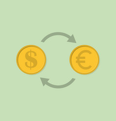 exchange money icon in flat design vector image