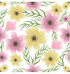 floral wedding invitation in vector image