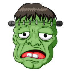 Frankenstein head cartoon vector